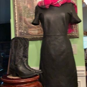 Leather Antonio Melan dress size 8 great condition